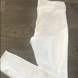 Old Navy Rockstar midrise white jeggings